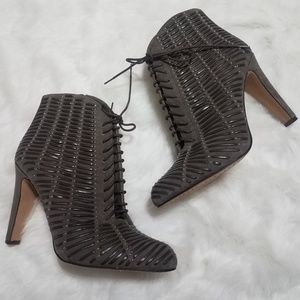 NEW Vince Camuto gray lace up bootie size 9